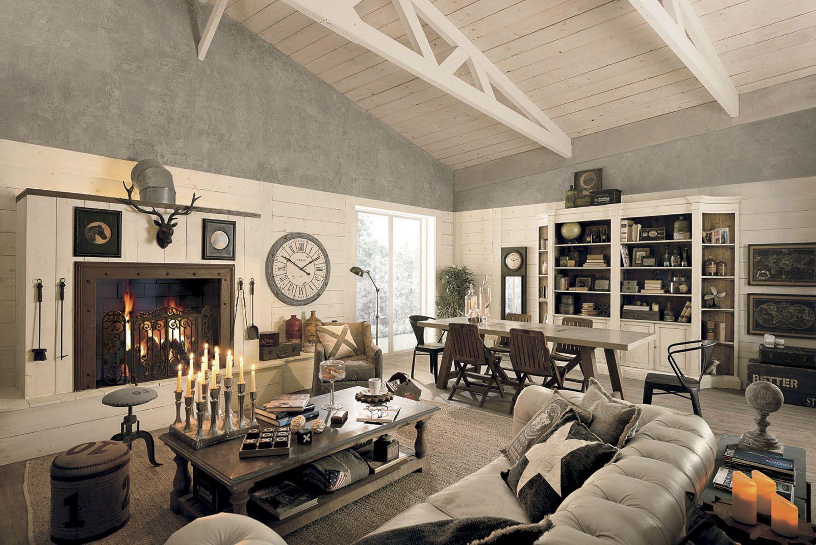 Arredamento loft ~ Soggiorno shabby chic vintage dialma brown. i complementi darredo