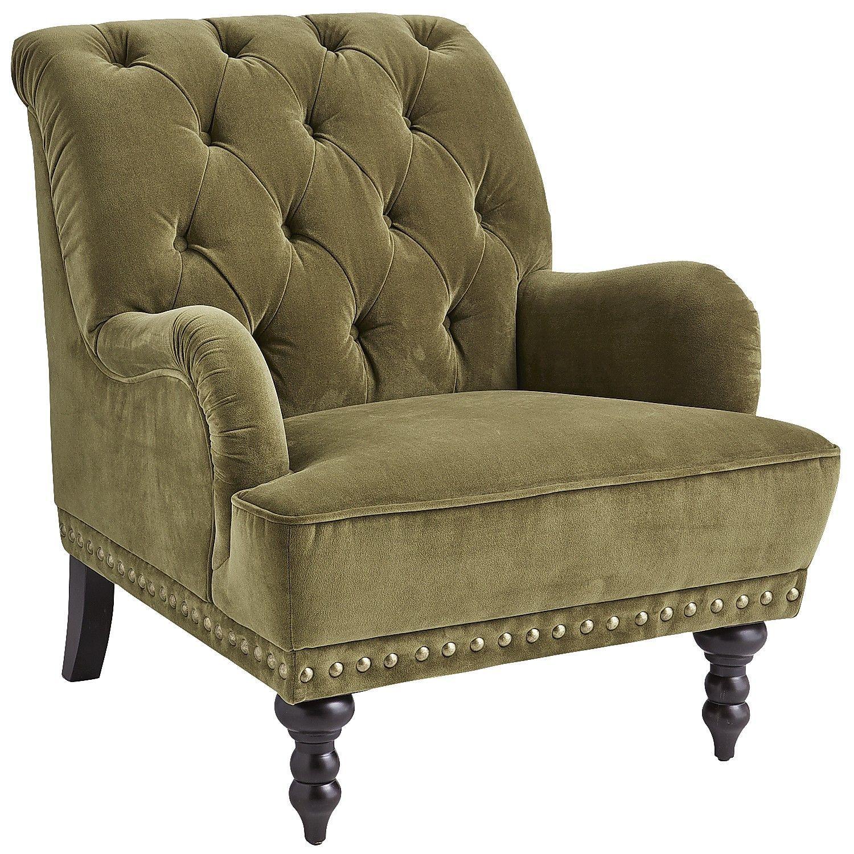 Chas armchair olive green velvet armchair velvet