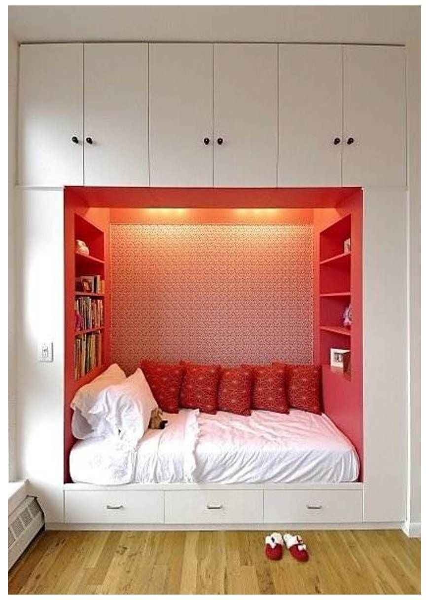 12 Space Saving Small Bedroom Ideas #cozy #small #bedroom #space