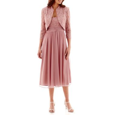 RM Collection Lace Bolero Jacket Dress