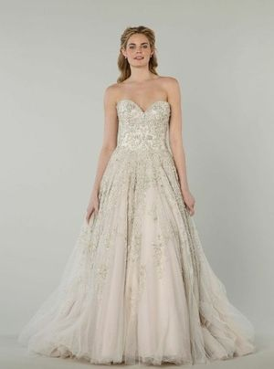 Danielle Caprese - Sweetheart A-Line Gown in Beaded Embroidery I am ...