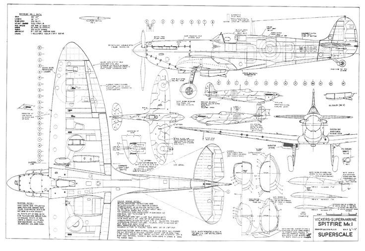 Pin By Joel Yarger On Technical Drawing Aircraft Supermarine Rhpinterest: Spitfire Airplane Schematics Or Drawings At Gmaili.net