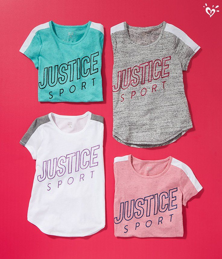 Super soft, classic sporty style. Girls sports clothes