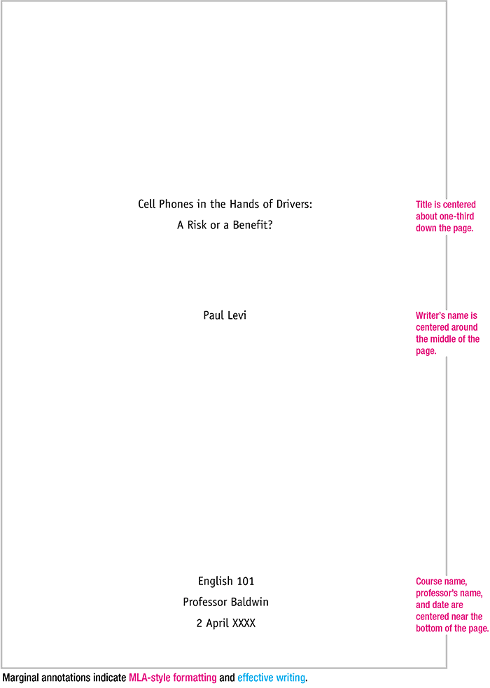 Pin On Language Arts Example Of Mla Research Paper With Cover Page