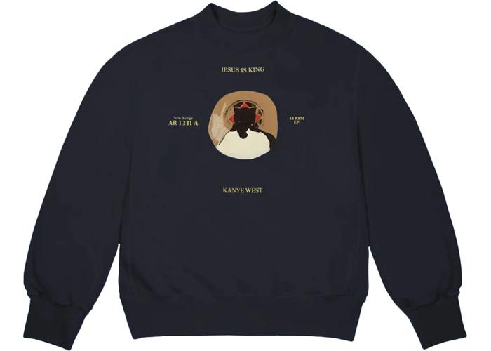 Kanye West Jesus Is King 45 La Apparel Promo Crewneck Navy Fw19 Kanye West Kanye West Yeezus La Outfits