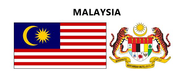 Bendera Dan Jata Negeri Negeri Di Malaysia Malaysia Hand Painted Decor Flag
