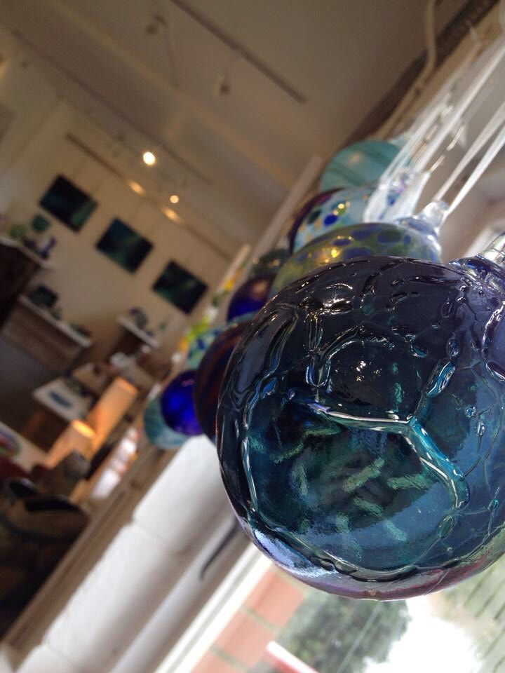 Beautiful baubles adorning the Langport gallery windows