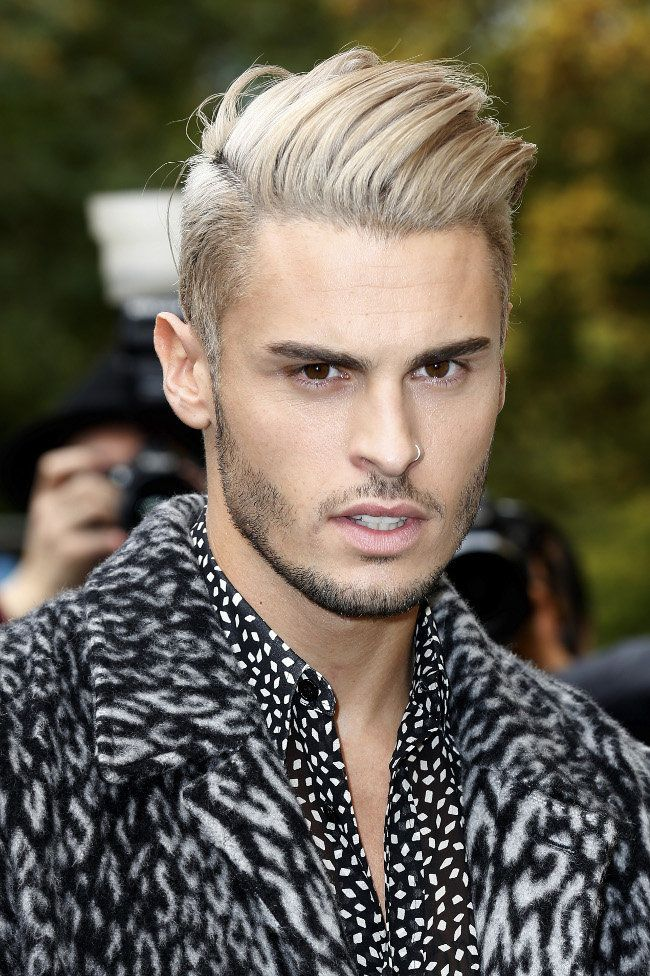 Photos baptiste giabiconi comme justin bieber il passe au blond platine beautiful boy - Coloration blond homme ...