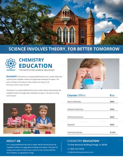 Chemistry Tutoring Flyer Design  Design Flyer Templates