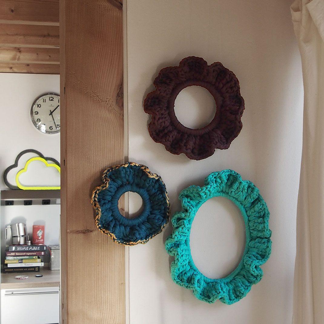 Interior Lifestyle Wanddekoration Trend-Rahmen in Braun, Türkis und Petrol mit Gold-Finish