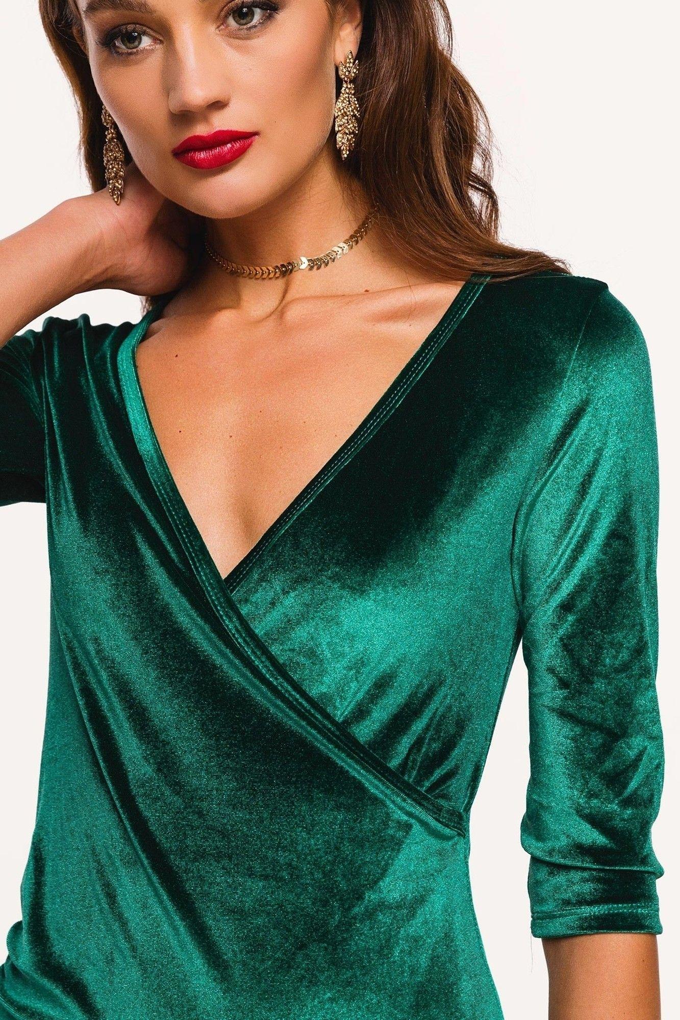 0c27e84f Loavies green velvet dress | Fashion Webshop LOAVIES | Hairstyles ...