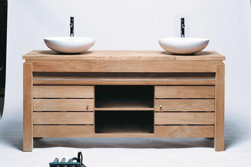 Meuble Salle de bain en teck 165 Serena Bath, Toilet and House - meuble salle de bain pierre naturelle