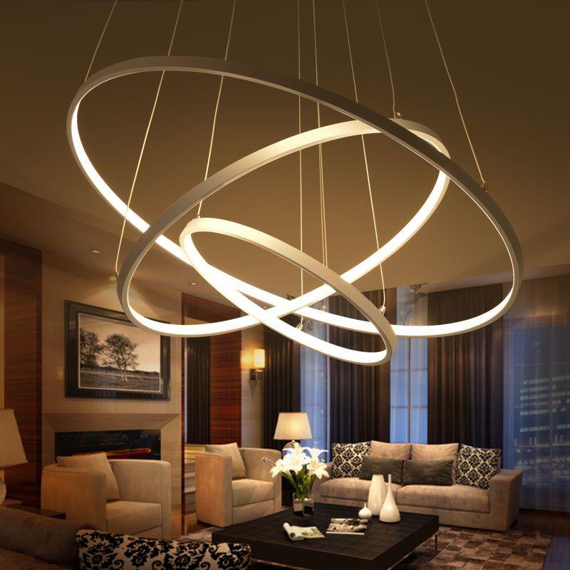 Features Size 1 Ring Diameter 40cm 25w Diameter 60cm 38w Diameter 80cm 50w 2 Rings Diam Lighting Ceiling Lamp Ceiling Lights Living Room Living Room Lighting