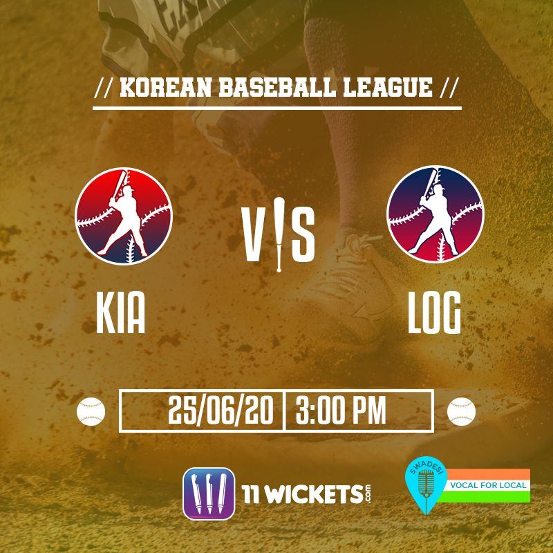 Korean Baseball League Kia Vs Log In 2020 Fantasy Baseball Baseball League League Gaming