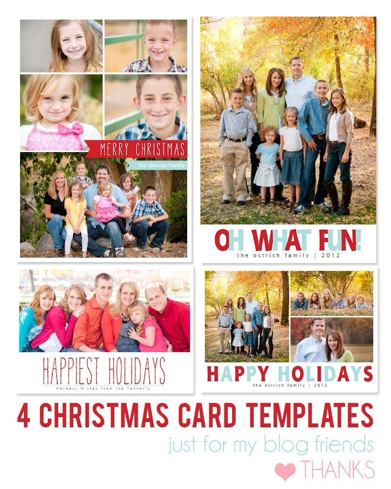 Free Photoshop Holiday Card Templates Mom And Camera Example