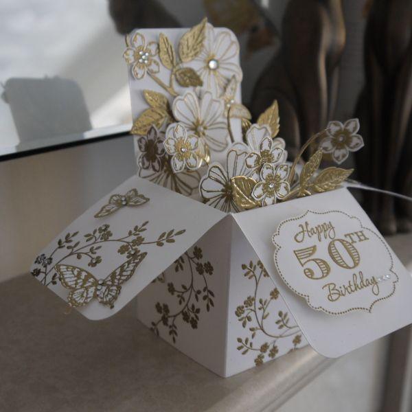 Stampin Connection Card Box Wedding Diy Diy Card Box 50th Anniversary Cards