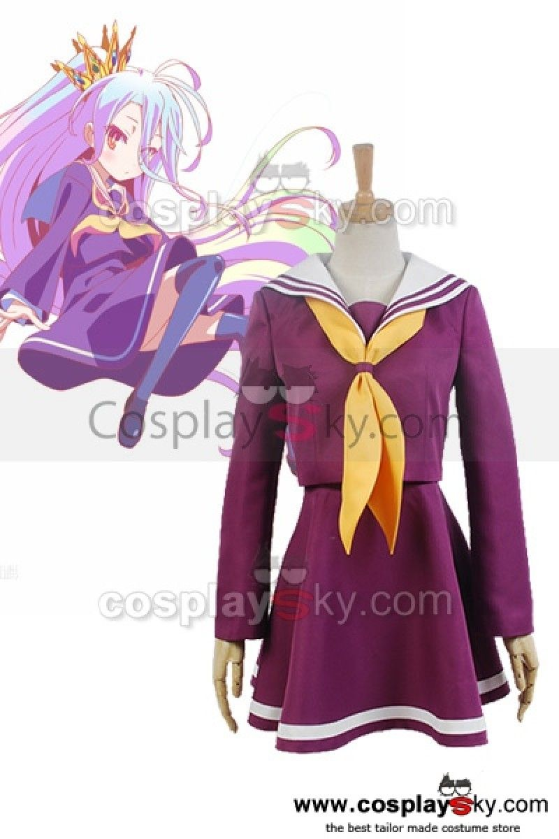 a82e75938  cosplaysky  cosplay  anime  disfraz  disfraces NO GAME NO LIFE Shiro Traje  de marinero Cosplay Uniforme Disfraz