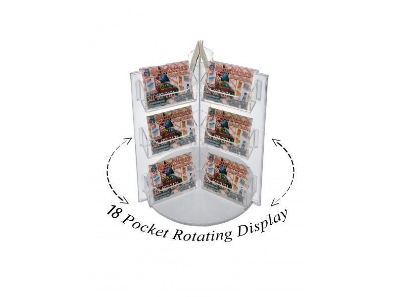 Spinning Business Card Holder 18 Pocket Counter Rotating Rack ...