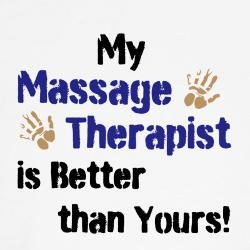 I SO need these for my patients!  Massage Therapist T Shirts | Massage Therapist Shirts & Tee's - CafePress.
