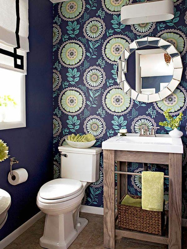 badezimmer gestaltung ideen badezimmer farbige wandtapete - gestaltung badezimmer