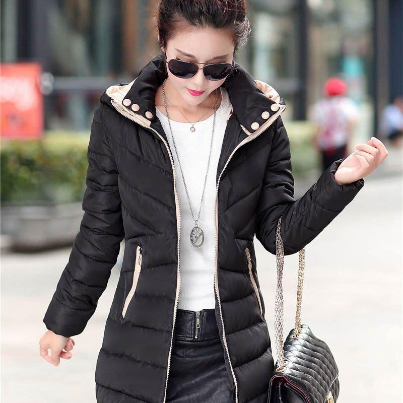 YuooMuoo Plus Size Women Coat Cotton-padded Winter Jacket Women ...