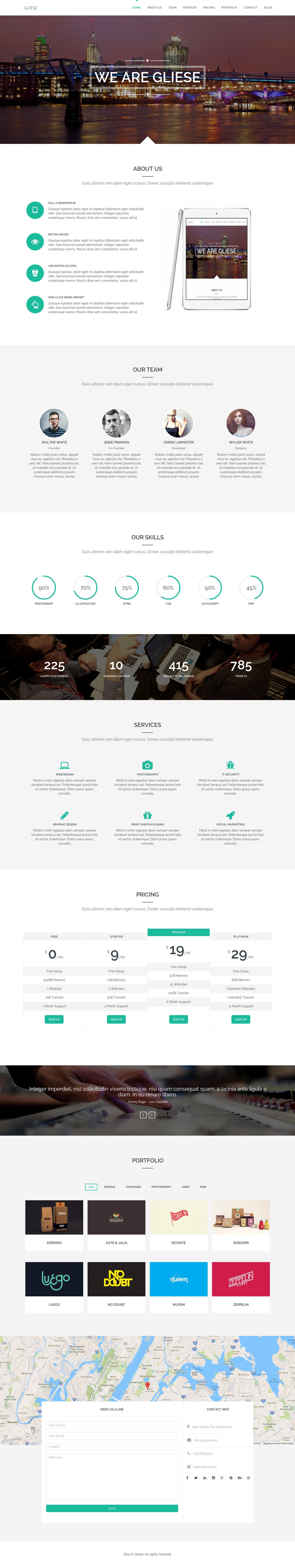 Gliese is a modern and creative WordPress theme, perfect