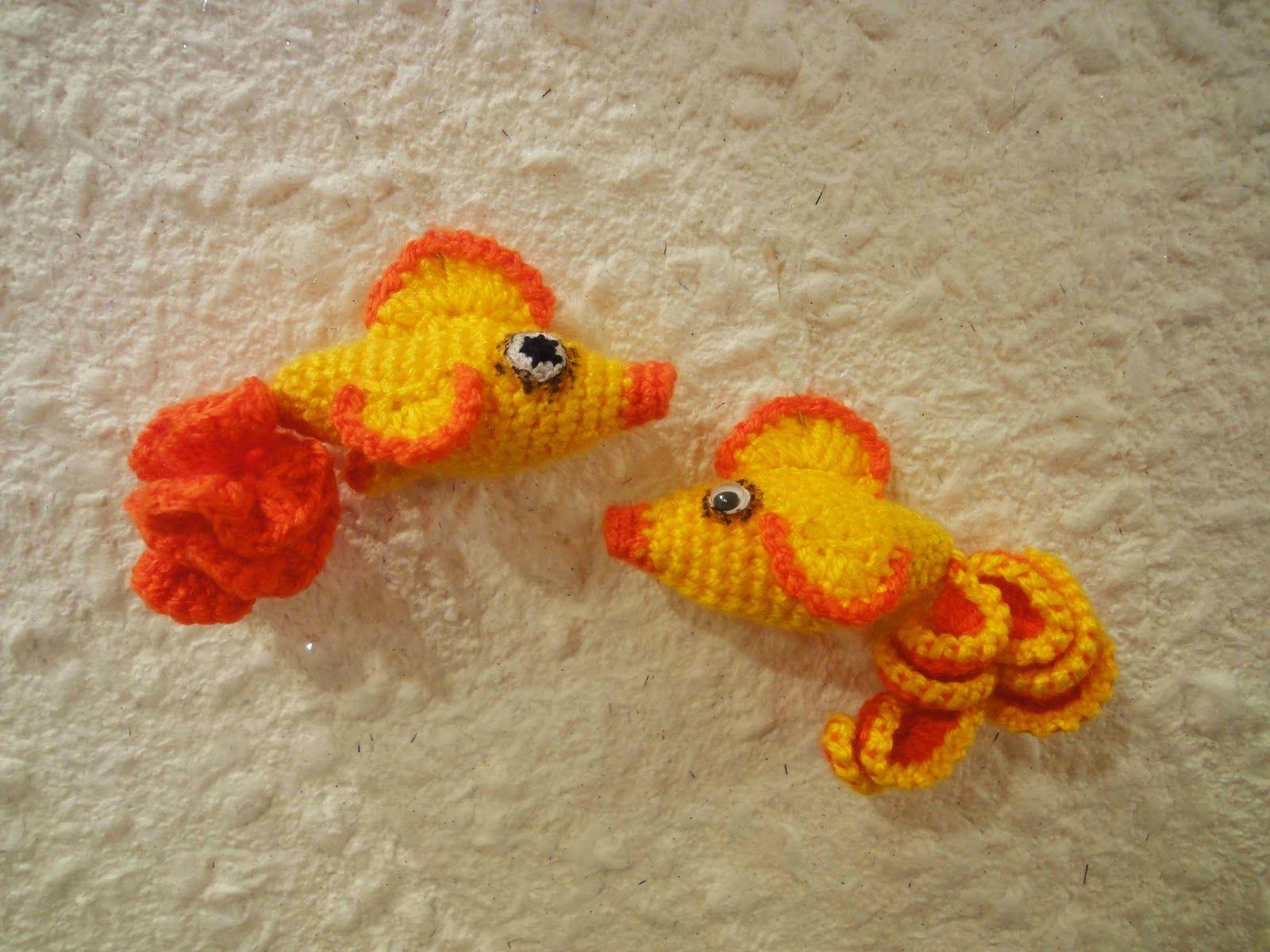 Вязаная золотая рыбка схема фото 415