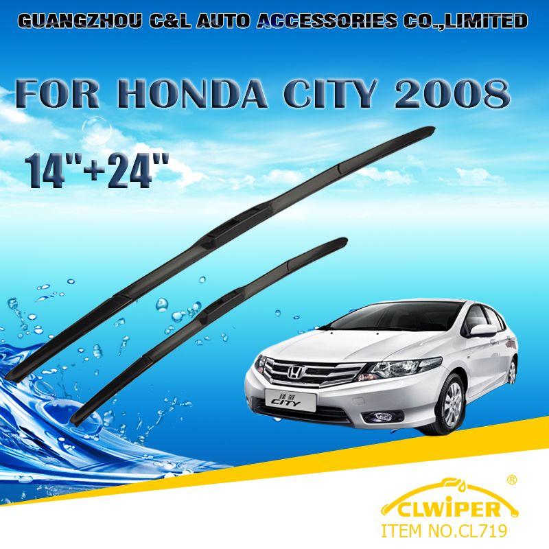CLWIPER Wiper Blades For HONDA CITY (2003 2013) 2004 2005 2006 2007 2008