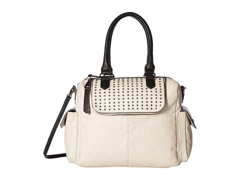 Steve Madden Bspin Satchel - This bag is as unique as it is practical, & with all the handy pockets, I'd have a place to stash just about everything. Now, I just wish it weren't white, then it would be in my shopping cart! Other colors, please?
