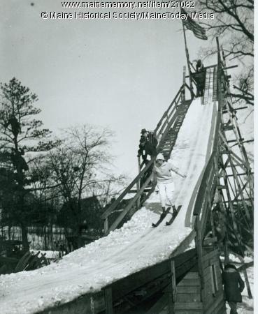 Ski jump, Western Promenade, Portland, 1924 | Maine | Ski jumping