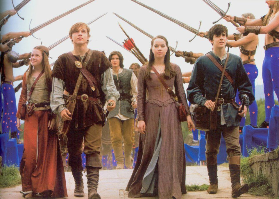 Their faces just say who they are. Lucy's simply delighted and at peace-.Peter looks gratified- A high king finally returned to his rightful home. Susan looks tentitave and a bit wary. And Edmund looks engaged and interested.