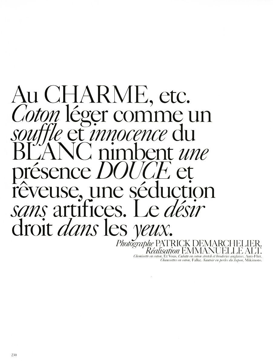 French Vogue Fonts | Typophile | Typography | Typography