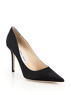 e8cf618ba47 Jimmy Choo - Abel Point-Toe Satin Pumps