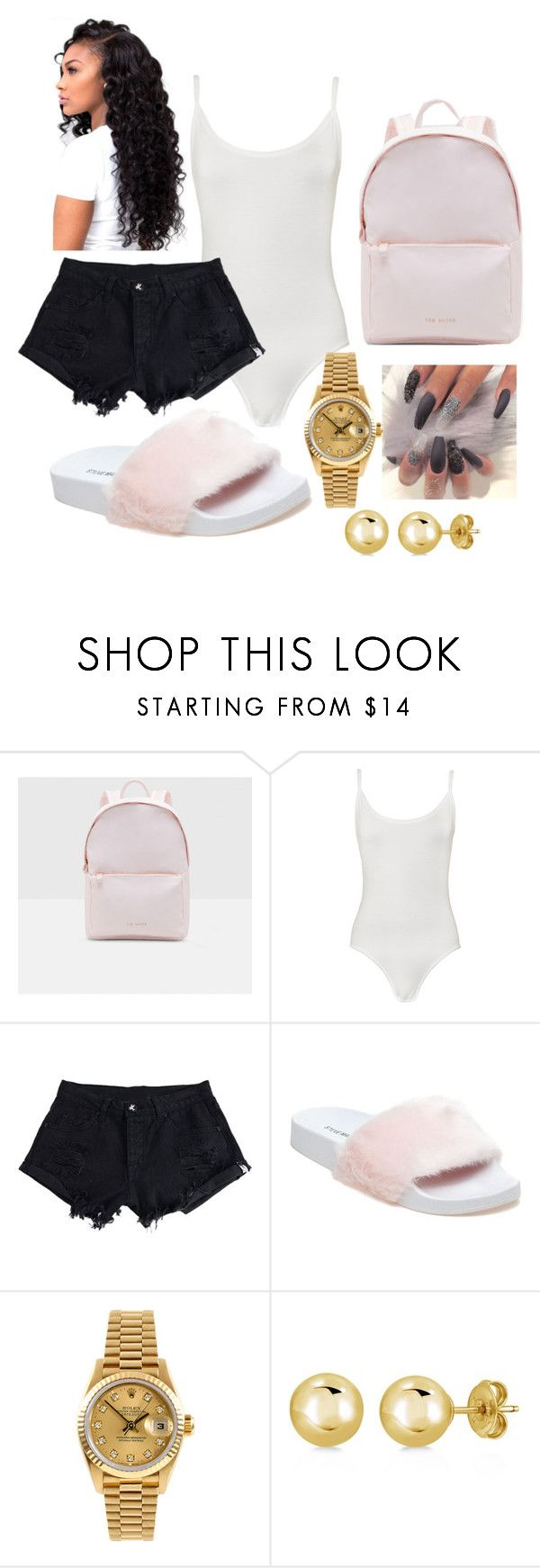 """""""Untitled #3"""" by benzo-19 ❤ liked on Polyvore featuring Ted Baker, WearAll, WithChic, Steve Madden, Rolex and BERRICLE"""