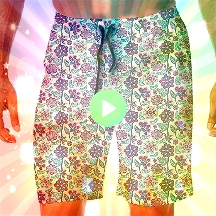 Beach Shorts for Men PaintFlourishing Peony Herbs Aster Shorts for Tee  QuickDry Beach Shorts for Men PaintFlourishing Peony Herbs Aster Shorts for Tee QuickDry Beach Sho...