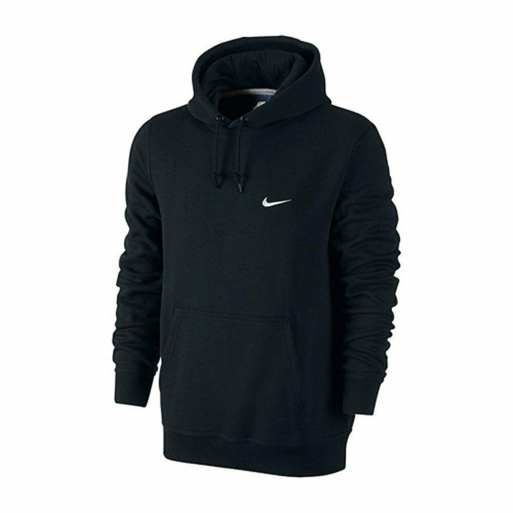 Nike Mens Sportswear Club Fleece Pull Over Hoodie Black Medium 826433 010 Nike Pullover Mens Sportswear Hoodies Nike Men [ 1000 x 1000 Pixel ]