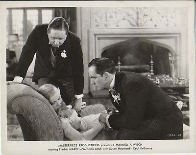 I MARRIED A WITCH, Original 1950 Veronica Lake, Robert Benchley Movie Photo