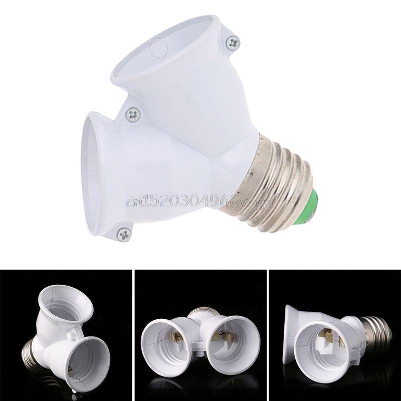E27 To Double E27 Base Socket Extender Adapter Converter Led Light Lamp Bulb H028 Led Light Lamp Lamp Bulb Lamp Light