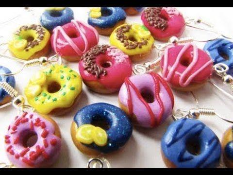 ▶ Tuto fimo : le donut (polymer clay tutorial : the donut) - YouTube