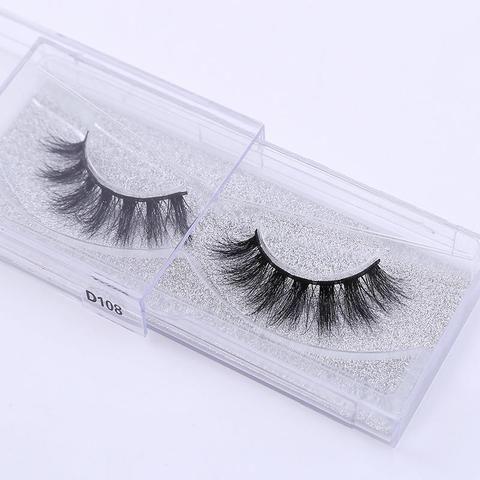 0855551d4fc 1Pairs cruelty free natural false eyelashes eyelashes long makeup 3D mink  lash eyelash extension lashes for
