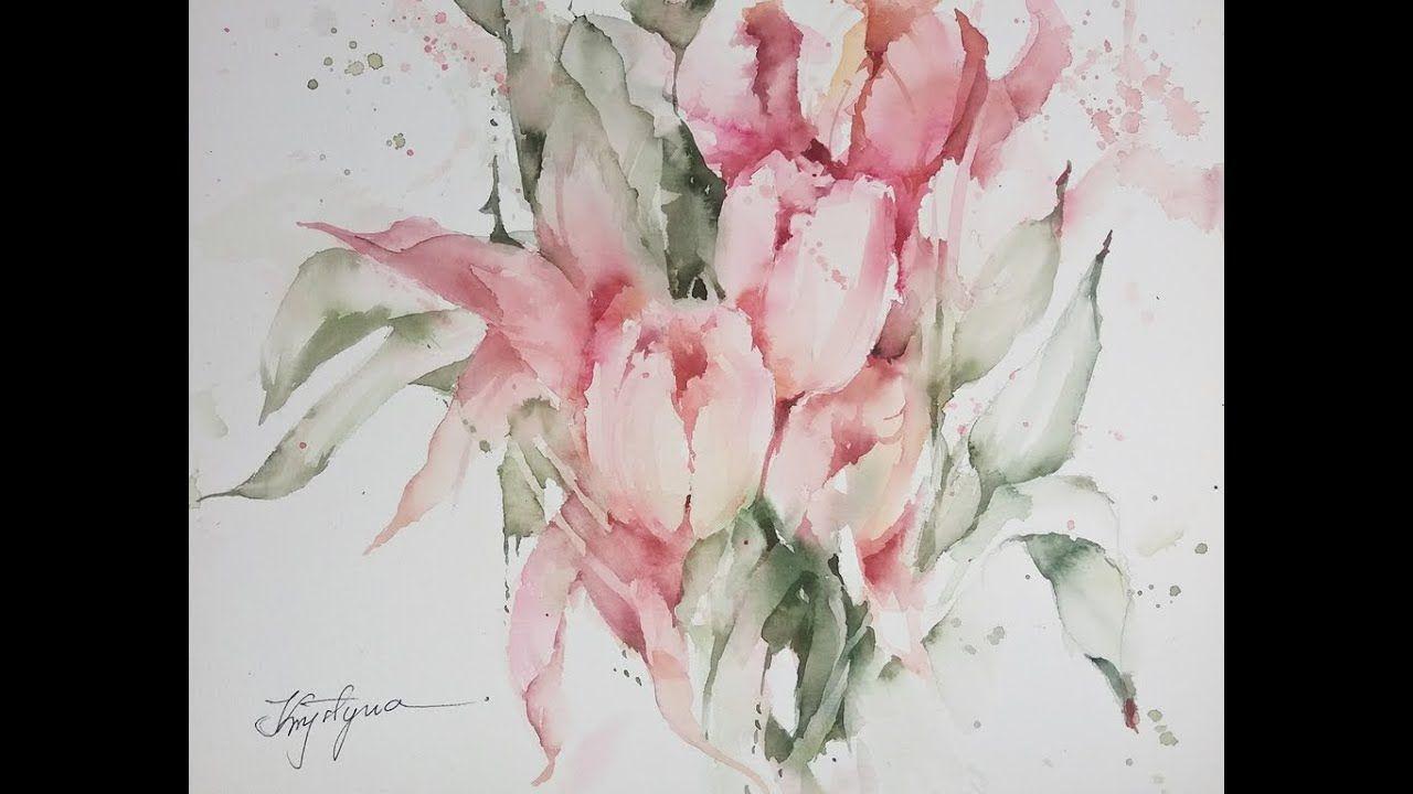 Wspolne Malowanie Tulipany Watercolour Tutorials Watercolor Make It Yourself