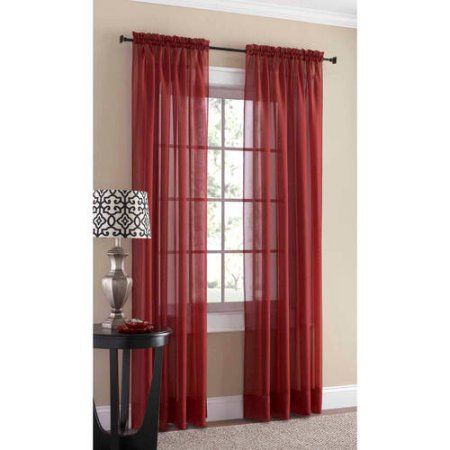 Mainstays Marjorie Sheer Voile Curtain Panel Image 1 Of 31