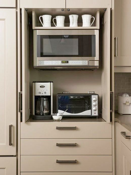 Hidden Microwave Cabinet Microwaves U0026 Dishwashers Necessary Or Not Centsational Girl Appliance Cabinetappliance Garagehidden In 2020 Kitchen Appliance Storage Appliances Storage Kitchen Appliances