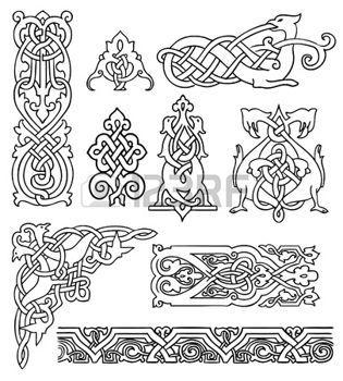 Keltische Muster Lizenzfreie Vektorgrafiken Kaufen Keltische Muster Keltisch Keltisches Muster