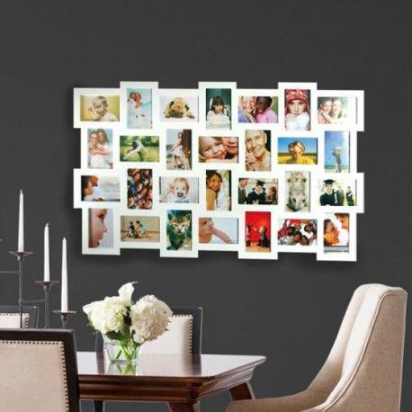 cadre pele mele en bois id e d co water decor frame. Black Bedroom Furniture Sets. Home Design Ideas