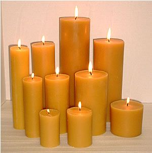 Our Pure Beeswax 3.5 inch wide cylinder pillars are available in 4 ...