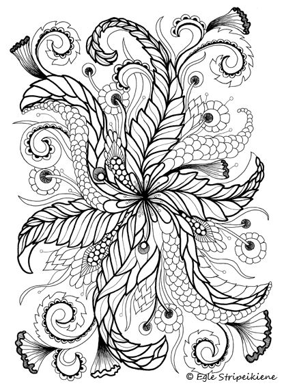 calming coloring pages for adults printable | Coloring book for adults COLORS OF CALM by Egle ...
