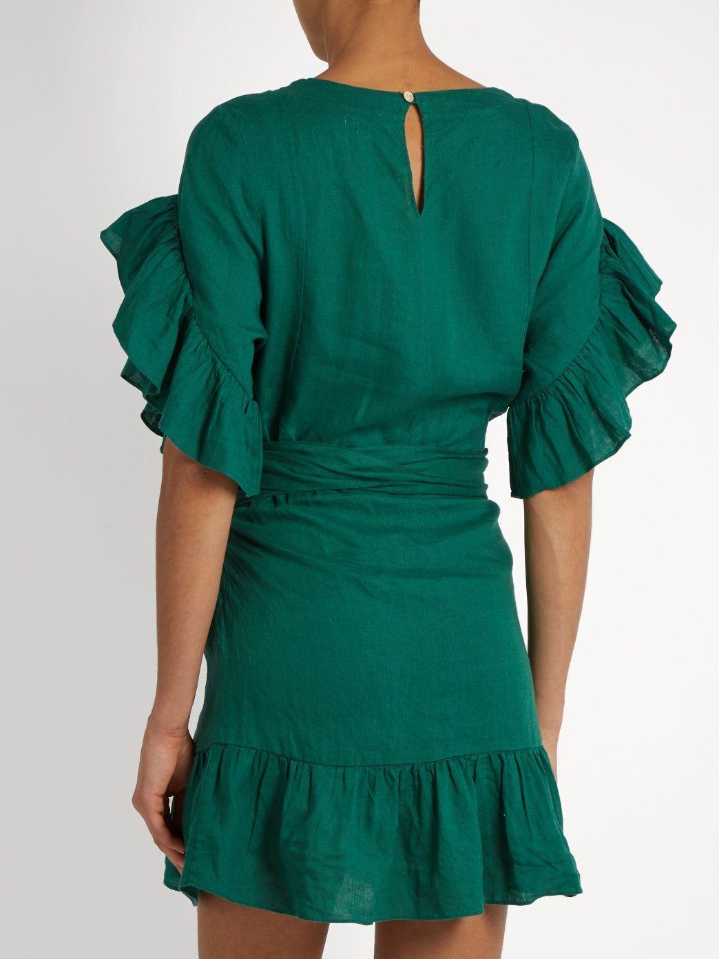 b386d7f377 Click here to buy Isabel Marant Étoile Delicia ruffled linen mini dress at  MATCHESFASHION.COM