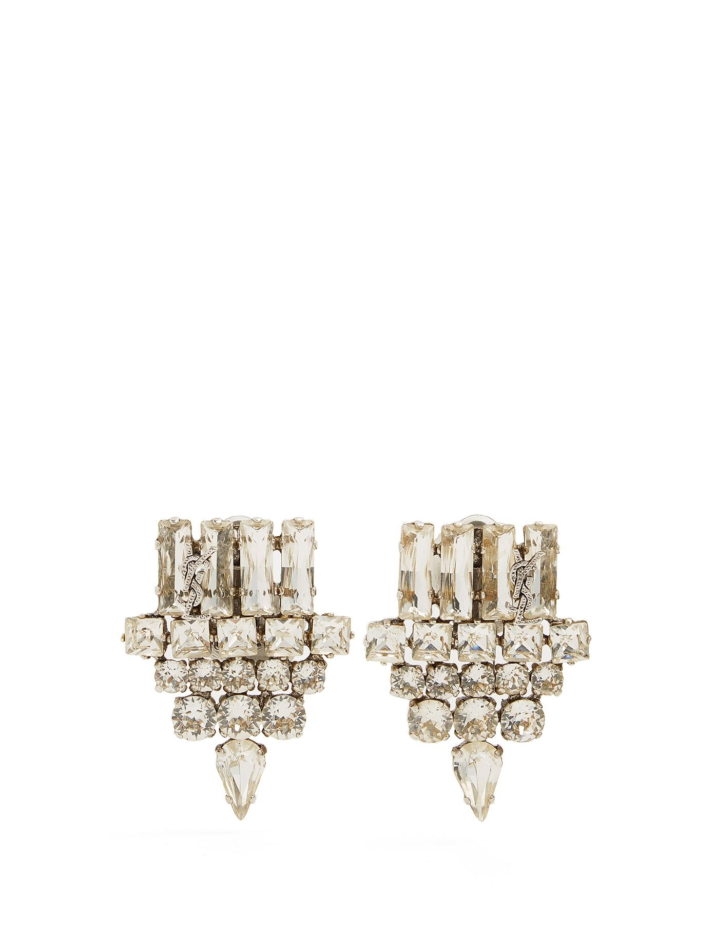 Crystal-embellished earrings Saint Laurent 2a5St