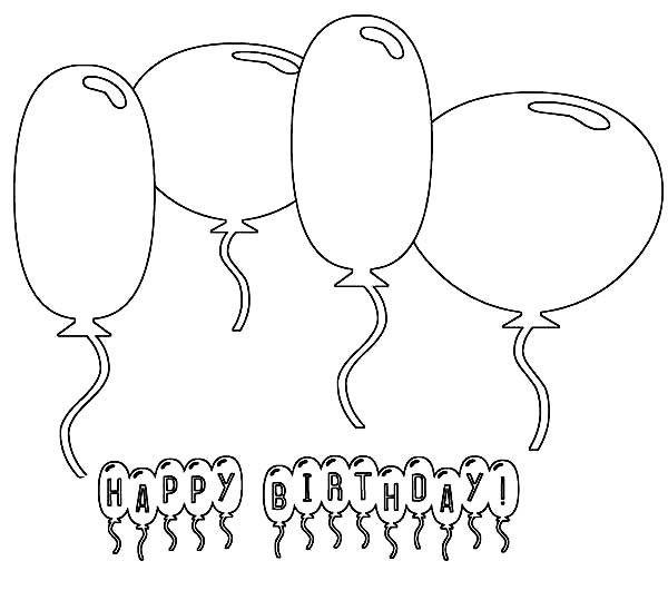 Globos 19 Dibujos Faciles Para Dibujar Para Ninos Colorear Geburtstag Malvorlagen Geburtstag Luftballons Alles Gute Zum Geburtstag Ballons